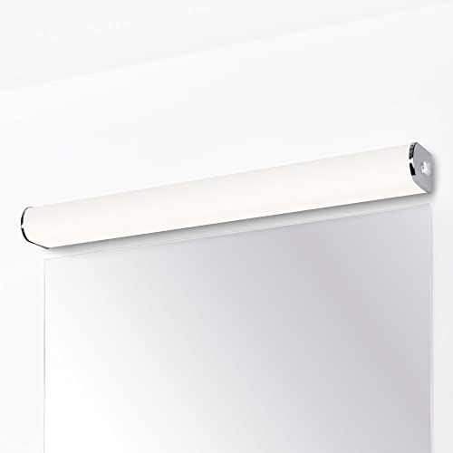 15W LED Badezimmer Lampe Wand Spiegelleuchte Seitlich mit Schalter über Spiegel IP44 60 CM Länge Hohe Helligkeit 1200Lm Naturweiß 4000K Nicht Dimmbar 1er Lampe von Enuotek