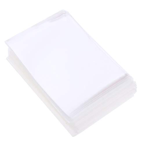 Sharplace 100pcs Standard Soft Sleeves Kartenhüllen Schutzhüllen (Transparent)