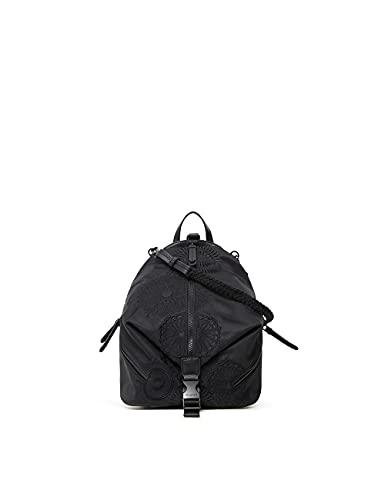 Desigual Womens Back_MANDARALA Viana Backpack, Black, One Size