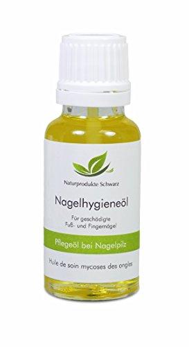 Naturprodukte Schwarz - Nagelpilz Öl - Mit Premium Teebaumöl zur Pflege bei Nagelpilz, 20ml