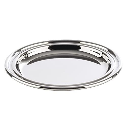 APS Untersetzer Set (6 Stück) aus hochwertigem Edelstahl poliert, Ø 10 cm, schwere Ausführung, Rand eingerollt, hochglanzpolierte Glasuntersetzer, rund