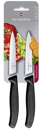 Victorinox Swiss Classic Gemüsemesser Set 2-teilig, spülmaschinengeeignet, rostfrei, Swiss Made, schwarz