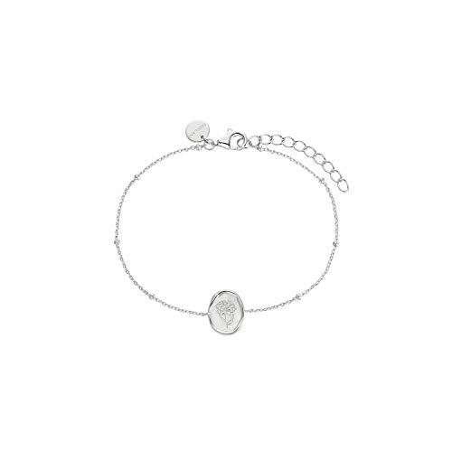 NOELANI Armband für Damen, Sterling Silber 925, Blume