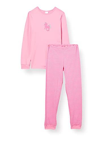 Schiesser Mädchen Langer Mädchen Schlafanzug Pyjamaset, Rosa, 128 EU