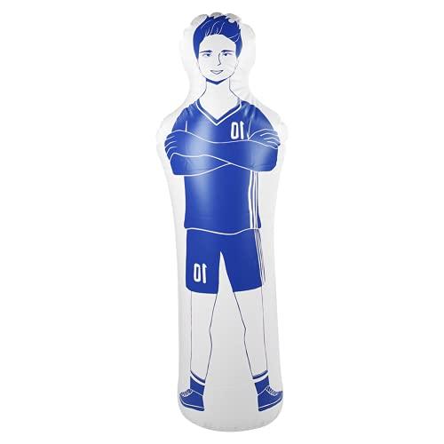 Jopwkuin Verdicken Trainingspuppe Mehrzweck-Boxsack Aufblasbar für Fußball- und Basketball-Trainingswand(Blau)