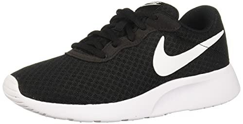 Nike Damen WMNS Tanjun Sneaker, Black White, 37.5 EU