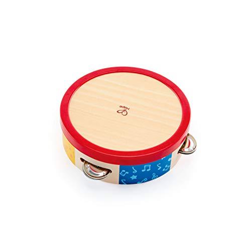 Hape Buntes Tamburin von Hape   Holztamburin Trommel für Kinder, Musikinstrument für Kinder ab 12 Monaten