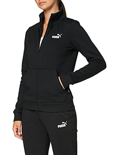 PUMA Damen, ESS Track Jacket FL Jacke, Cotton Black, L