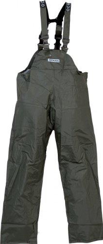 Ocean Rainwear Damen Herren Regenhose Latzhose Modell Budget , Farbe:oliv, Größe:L