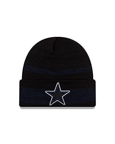 New Era Dallas Cowboys Beanie NFL Wintermütze American Football Mütze Sideline schwarz - One-Size