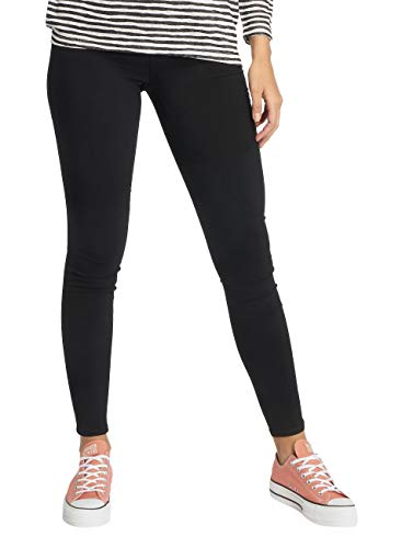 PIECES Female Jeans Mid Waist Skinny fit MBlack