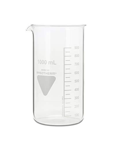 RASOTHERM Becherglas hohe Form mit Ausguss, (Boro 3.3), 1000 ml