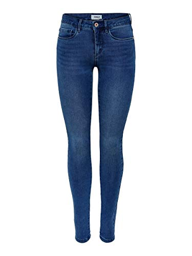 ONLY Damen Onlroyal Reg Skinny Pim504 Noos Jeans, Medium Blue Denim, 30 Large