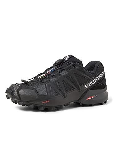 Salomon Damen Speedcross 4 W Traillaufschuhe, Black/Black/Black Metallic, 39 1/3 EU