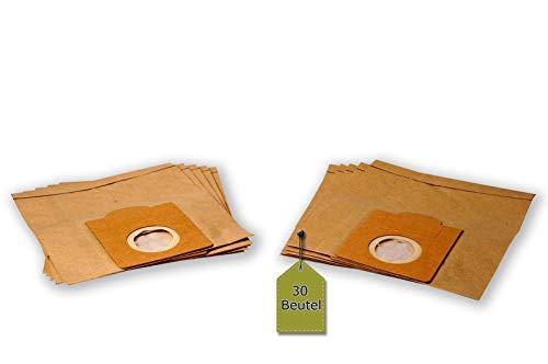 eVendix Staubsaugerbeutel kompatibel mit Fakir IC 114, 30 Staubbeutel + 6 Mikro-Filter + 6 Motor-Filter ähnlich wie Original Fakir Staubsaugerbeutel 2118 805