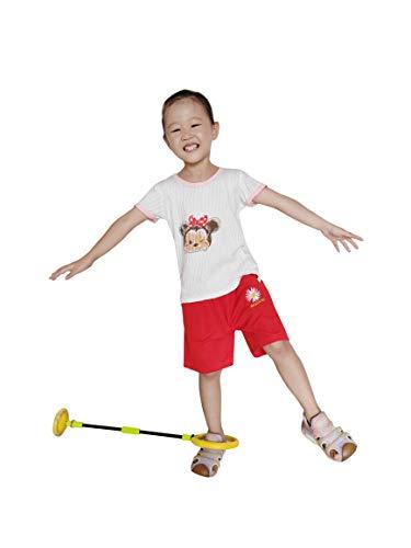 N+A Faltbarer Springender Ball Flash Springender Fußkraftball LED-Knöchelring-Schaukelball für Kinder Sportspielzeug Kinder Fitness Springender Ball Outdoor-Sprungball