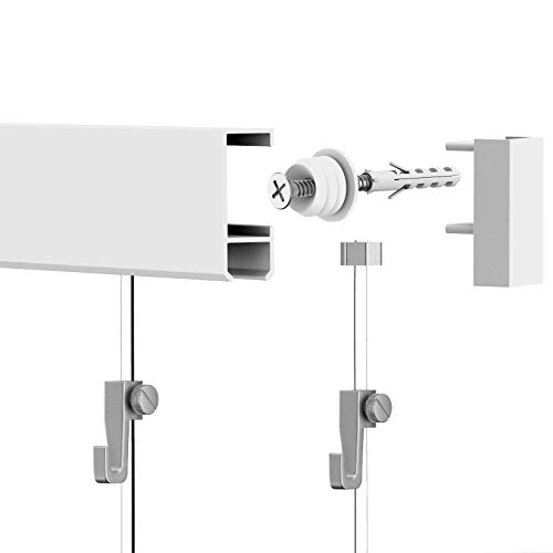 Leha Bilderschiene Galerieschiene Komplett-Set 9m (6x1,5m) weiß