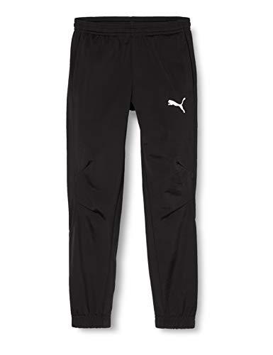 PUMA Kinder Liga Sideline Poly Pant Core J Hose, Black White, 140