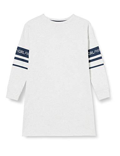 Sanetta Mädchen Sleepshirt Ecru Melange Langes Sleep-Shirt aktuellen Athleisure Serie sportlichen Graumelange, beige, 128