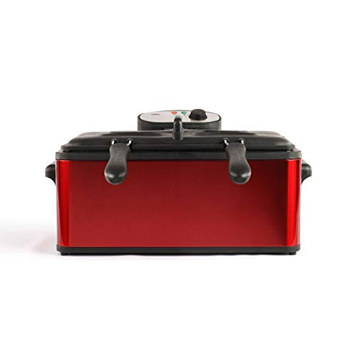 Domoclip DOC149Maxi Fritteuse rot 6l 3000W