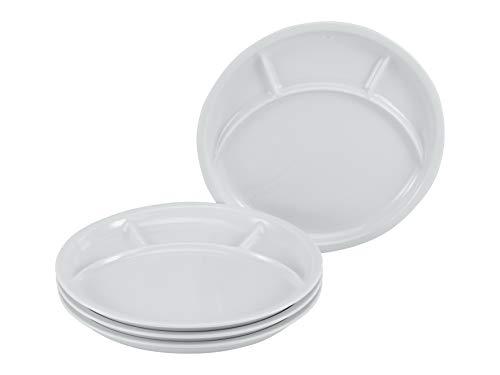 Creatable, 22922, Serie Fondue und Grill-Teller UNIVERSAL, Geschirrset, Fondueteller 4 teilig, Porzellan