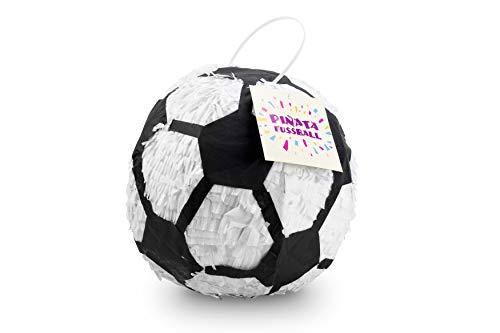 Trendario Fußball Pinata - 25x25x25 cm - Fußball Design - ungefüllt - Ideal zum Befüllen mit Süßigkeiten und Geschenken - Piñata für Kindergeburtstag Spiel, Geschenkidee, Party, Hochzeit