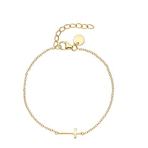 NOELANI Armband für Damen, Sterling Silber 925, Kreuz