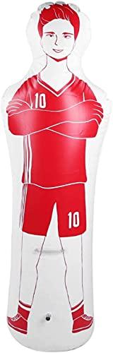 Easy Training Mannequin-Store PVC-Mehrzweck-Fußball- und Basketball-Trainingswand (blau)-rot-Weiss