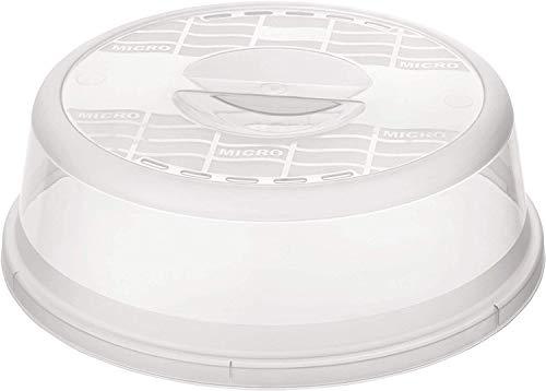 Rotho Basic Mikrowellenabdeckhaube, Kunststoff, Transparent, Durchmesser 26.5 cm