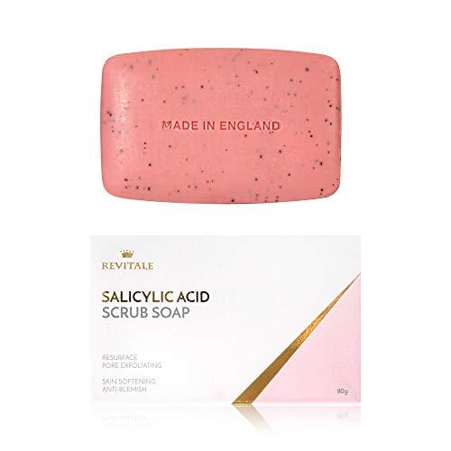 Salicylsäure Scrub Soap Pore Peeling, Akne bekämpfen, Haut weich werden, Anti-Blemish, entfernt Warzen