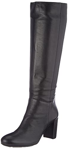 Geox Damen D LOISIA Knee High Boot, Black, 35 EU