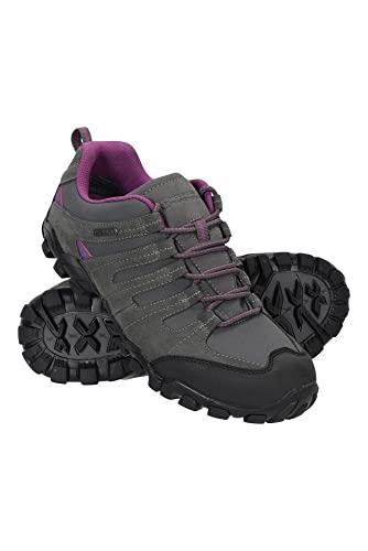 Mountain Warehouse Belfour wasserfeste Damen-Schuhe - leichte, wasserdichte und atmungsaktive Lauf-, Fitness- und Wanderschuhe mit Dämpfung für Damen, perfekt zum Reisen Grau 41 EU