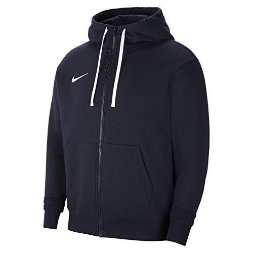 Nike CW6887 M NK FLC PARK20 FZ Hoodie Sweatshirt Mens Obsidian/White/White M