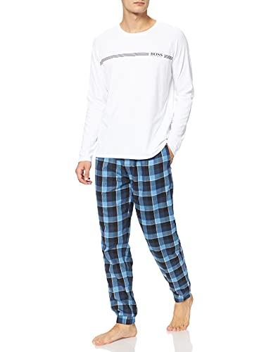 BOSS Herren Dynamic Long Set Pyjamaset, Turquoise/Aqua441, L