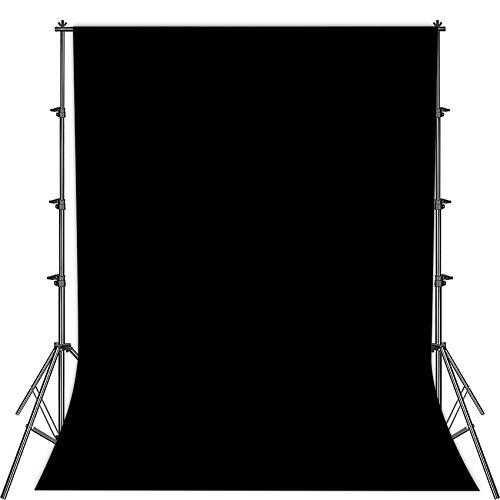 Fotostudio Hintergrund für Fotografie,Faltbare schwarz Screen,1.5 x 2.1m Foto Hintergrund schwarzscreen Stoff,Modefotografie schwarzscreen,Videoaufnahme schwarzscreen,schwarzscreen