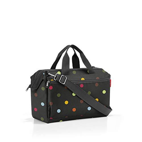 Reisenthel Allrounder S Pocket MO7009 in der Farbe Dots – Reisetasche mit 11l Volumen – für Alltag Reisen und Büro – B 39 x H 26 x T 16,5 cm