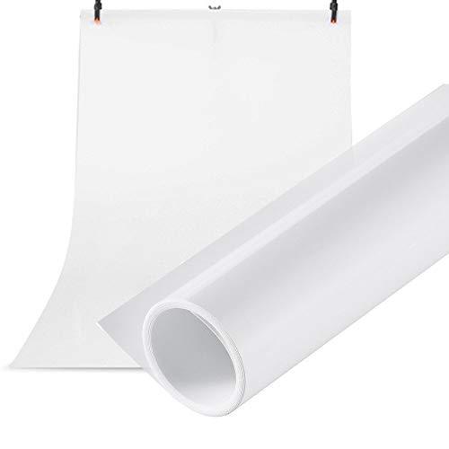 Selens PVC Hintergrund 100x200cm Wasserdicht Fotografie Hintergründe Matte Background für das Fotostudio Weiß