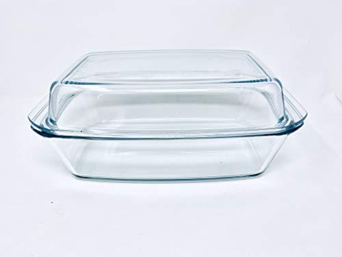 Bohemia Cristal 093/006/031 SIMAX Schüssel eckig ca. 2,8 ltr. mit hohem Deckel aus hitzebeständigem Borosilikatglas