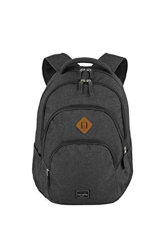 travelite Rucksack Handgepäck mit Laptop Fach 15,6 Zoll, Gepäck Serie BASICS Daypack Melange: Modischer Rucksack in Melange Optik, 096308-05, 45 cm, 22 Liter, anthrazit (grau)