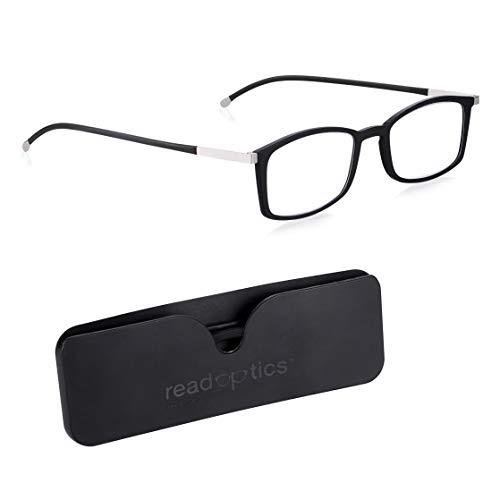 Lesebrille +0.0 | +1.5 | 2,0 | 2.5 Herren / Damen: Lesen Sie Optik Blaulicht blockierende Blendschutz- und UV-Filterbrillen für den Augenschutz von Computerbildschirmen. Ultradünn im flachen Gehäuse