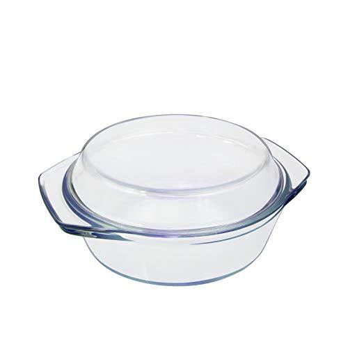 Glas Auflaufform mit Deckel 1L Kleine Auflaufformen 1 Person Glaskasserolle Glasbräter 15cm Auflaufform Rund Glas Individuelle Glaskasserolle mit Deckel