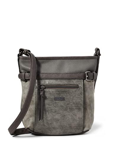 TOM TAILOR bags JUNA Damen Umhängetasche S, grey, 26x7,5x24