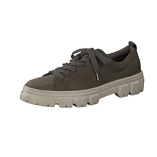 Paul Green Damen SUPER Soft Sneaker, Damen Low-Top Sneaker,Freizeitschuhe,Turnschuhe,schnürschuhe,schnürer,Oliv (ROYAL Nubuk Oliv),6 UK / 39 EU