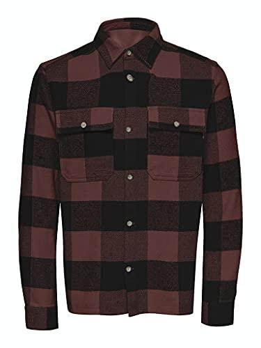 ONLY & SONS Herren ONSSCOTT LS Check Flannel Overshirt Hemd, Andorra, L