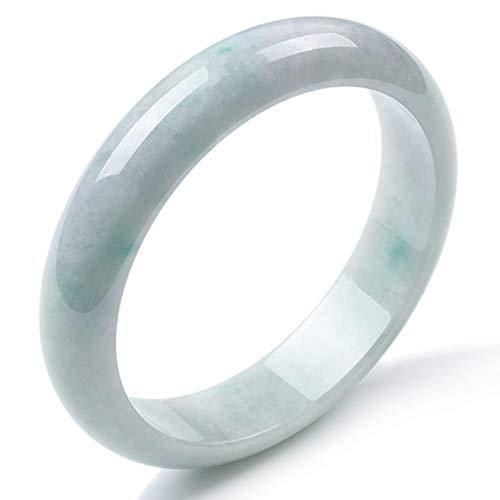 N/V Natürliche Jade Armreif Grad A Burmesische Klebrige Spezies Floating Green Fengshui Jadeite Armband Frauen Geschenk Armbänder für Damen,56-58mm