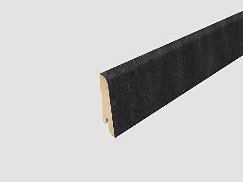 Egger Sockelleiste 6 cm L367 passend zu Fußboden Jura Schiefer anthrazit, Santino Stein dunkel (Maße: 60 x 17 x 2400 mm), schwarz