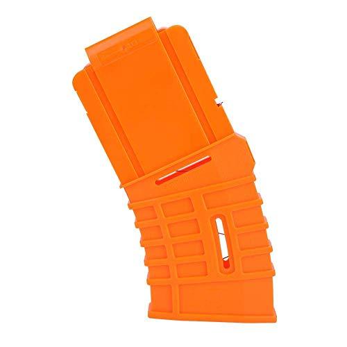 SolUptanisu Soft Bullet Clip Magazin-Clips 10 Darts Quick Reload Clip-Dartclips für Nerf N-Strike Elite-Serie Orange