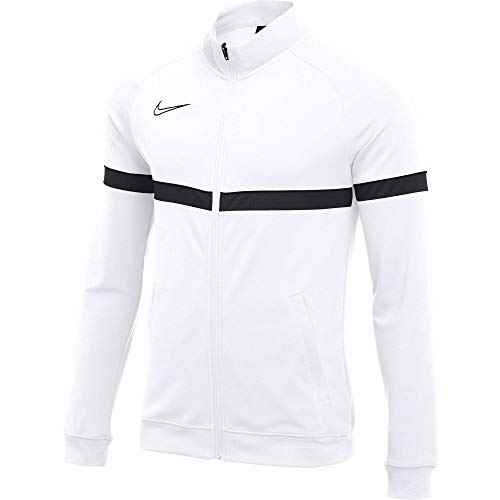 Nike Unisex-Child Dri-FIT Academy 21 Jacket, White/Black/Black/Black, L