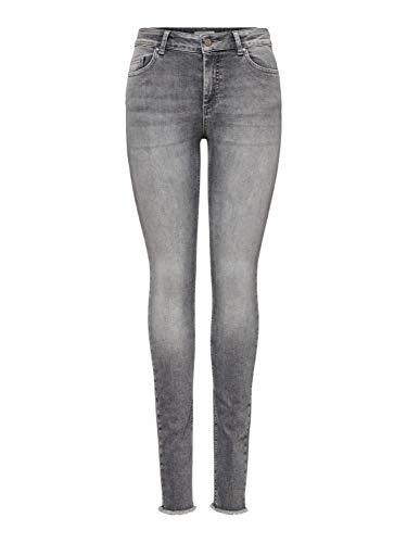 ONLY Damen Onlblush Mid Ank Raw Jns Rea0918 Noos Skinny Jeans, Grau (Grey Denim Grey Denim), XL 34L EU