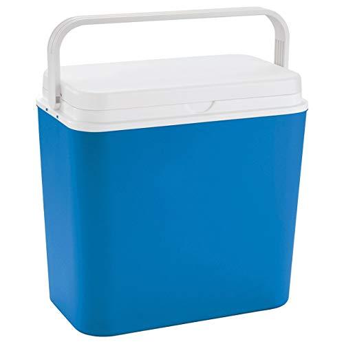 Linder Exlusiv Kühlbox 24 Liter groß - Isolierbox blau/weiß - Made in Europe